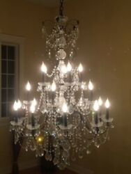 Elegant Crystal Chandelier - Currently In Large 30 Ft High Entryway