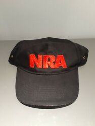 NRA Stand And Fight Red Black Embroidered Strap Back Hat Cap