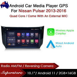 10.1andrdquo Android 10.1 Car Stereo Media Player Gps Head Unit For Nissan Pulsar 13-16
