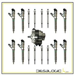 2004.5-2005 Chevy/gmc Duramax 6.6 Lly 30 Over Diesel Injector Super Set Deluxe
