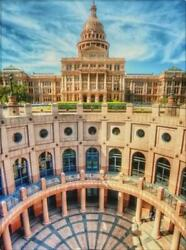 Texas Capitol | Texas Art In Canvas Or Framed Print | Various Sizes