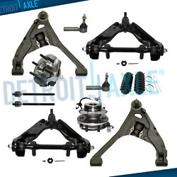 12pc Front Control Arms + Wheel Hub Bearing Tierods For 4wd Dodge Dakota Durango
