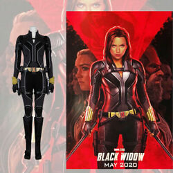 Black Widow 2020 Cosplay Jumpsuit Belt Holster Props Costume Full Set Any Size