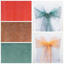 200 Sheer Organza New Chair Sashes Bows Ties Wedding Decorations Wholesale Sale
