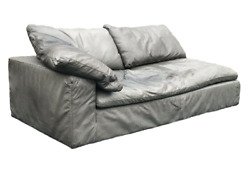 Authentic Restoration Hardware 7ft Cloud Leather Left-arm Sofa Luxe Down Fill