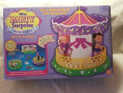 Miss Party Surprise Pony Party Playset Vintage 1998