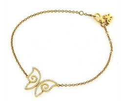 1.65ct Diamond And 14k Solid Yellow Gold Charm Bracelet In Customised Size