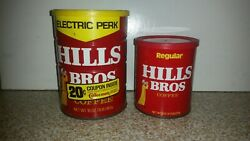 2 Vintage Hills Brothers Coffee Cans Electric Perk