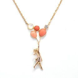 Van Cleef & Arpels Mercredi a Paris 18k Rose Gold Diamond Coral Necklace