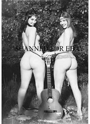 1960s Model Guitar Legs Leggy Butt Print Female Girl Nude Woman Photo Picture As