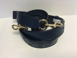 Marc Jacobs Shoulder Crossbody Leather Strap Blue Sea Golden NWT $79.00