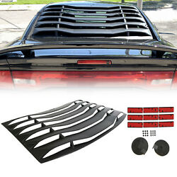 Rear Window Louver Cover Sun Shade Vent For Dodge Charger 2011-2020 Abs