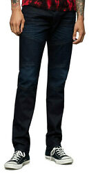 True Religion Menand039s Rocco Moto Skinny Fit Stretch Jeans In Greatest Blue