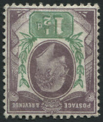 Sg221wi Specm8a 1902-10 1andfrac12d Dull Purple And Green Wmk Inv Small Part Original