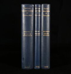 1938 3vol Catalogue of the Museum at Freemasons' Hall Colour Plates 1st