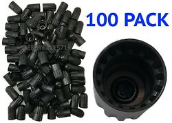 100 Pack Long Plastic Valve Stem Caps For Tr20008 Tmps New Free Shipping Usa