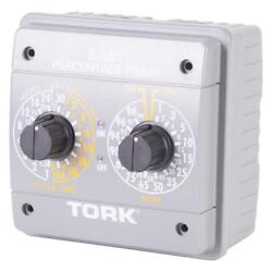 Percentage Timer Switch Spdt 120-240 Vac 24-hour Indoor Automatic Control, Gray