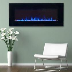 Led Fire/ice Electric Fireplace Remote Black 42 In. Flame Heater Entertainment