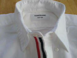 NWOT Thom Browne White Oxford Cloth Button Down Grosgrain Placket  MSRP $425 $130.00