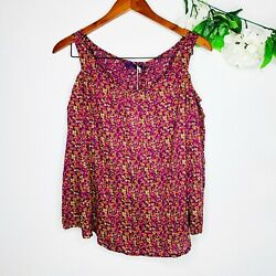 Nwt Prana Floral 3/4 Sleeve Cold Shoulder Fairy Tales Top Womenandrsquos Sz Xs
