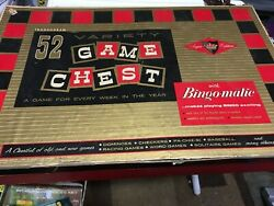 Vintage 1954 Transogram Game Chest 52 Variety Chest Old And Contemporary Games