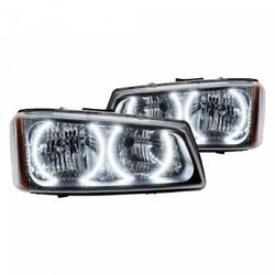 Chrome Factory Style Headlights With 8000k White Ccf 03-06 Chevy Silverado