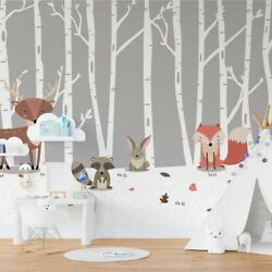 Childrens Bedroom Photo Wallpaper Forest Animals 368x254cm Wall Mural Decor