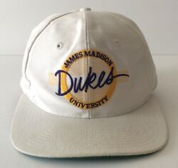 Vintage James Madison University Dukes The Game Snapback Cap Hat 90s College $14.79