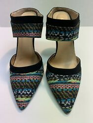 WOMENS QUPID STRAP DRESS SHOE MULTI-COLOR HIGH HEELS SIZE 6