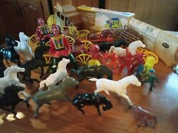 Vintage Western Toys. Lot Of 40+ Pieces. Some Very Collectable Pieces. As Is.