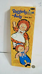 Raggedy Ann And Andy Whitman 2 Magic Dolls 1968 Paper Stay On Costumes Vintage