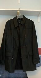 French Connection Mens Wool Peacoat Small Subtle Camo Nice Op @400 See Descript