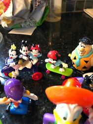 Happy Meal Toys Vintage Various Characters Fred Flintstone And Barney Ruble