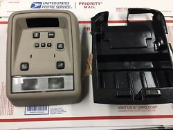 03-04 Lincoln Town Car Overhead Console Map Lights Gray Stone With Bracket Oem
