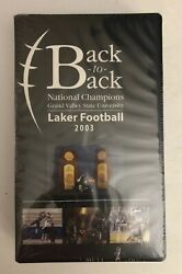 Grand Valley State University Back To Back National Champions 2003 Football Vhs