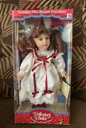 New Sealed Box Genuine Fine Bisque Porcelain Doll Collectors Choice Certificate