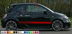 Stickers Decal For Fiat 500 Abarth Stripes Chrome Filter Seat Carbon Hood Sport