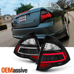 Fit 2010 2011 2012 Ford Fusion Black Full Led Signal Drl Tube Tail Lights