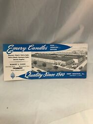 Emery Candles Robert Dunn Wethersfield Ct Advertising Vintage Paper Ink Blotter