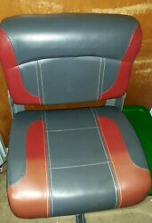 Red/grey Folding Boat Seat Jpm Deckmate