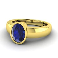 14k Yellow Gold 1.36 Ctw Blue Sapphire 5 Mm Menand039s Wedding Band Engagement Ring