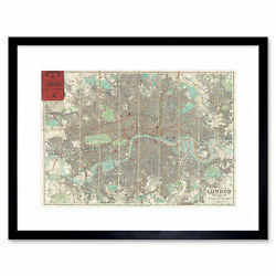 Map Illustrated Antique Philip London Framed Wall Art Print