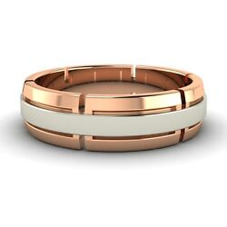 14k Rose Gold 6 Mm Menand039s Engagement / Wedding Band Ring Free Sizing And Engrave