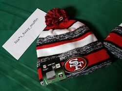 San Francisco 49ers New Era Knit Pom Hat Beanie New Tags Authentic On Field 2014
