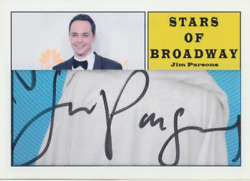 Jim Parsons Authentic Signed Custom Cut Autographed Trading Card 1 Of 1 Coa
