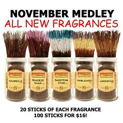 Wild Berry Incense -november Medley Flair Of The American West 5 New Scents 100