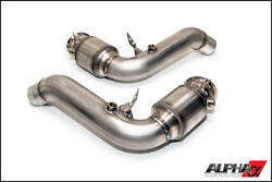 Ams Alpha Performance Downpipe With Catalytic Converter For 2012-2018 Bmw M5 M6
