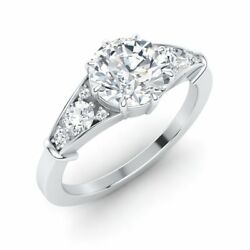 Queen Elizabeth Inspired Certified 1.47ct Topaz And Si Diamond 14k White Gold Ring