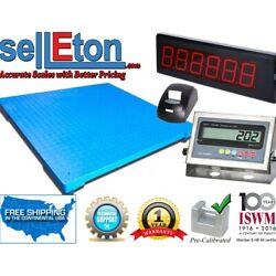 48 X 48 Floor Scale With Printer And Scoreboard Warehouse Industrial 1000 X .2