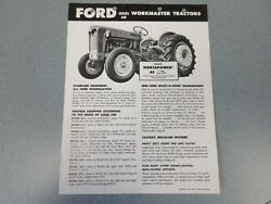 Ford 601 Workmaster Farm Tractors Sheet     Lw